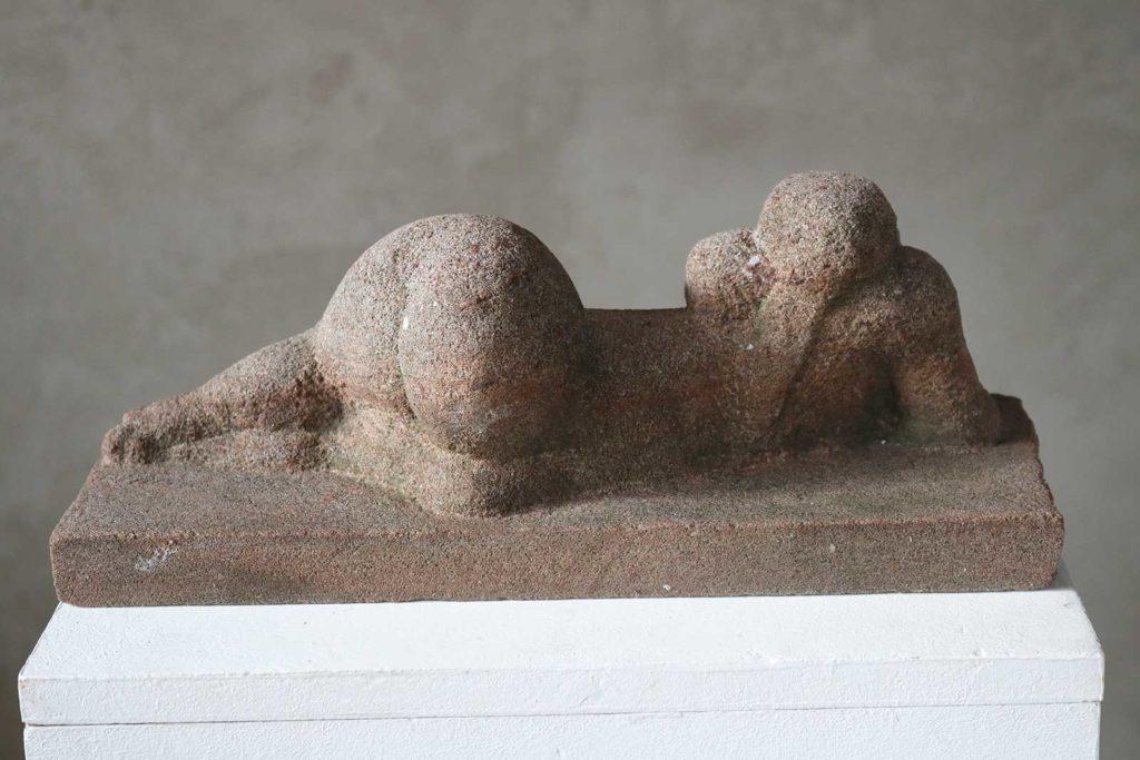 Rosa Gebirge, Sandstein, 13 x 37 x 16 cm