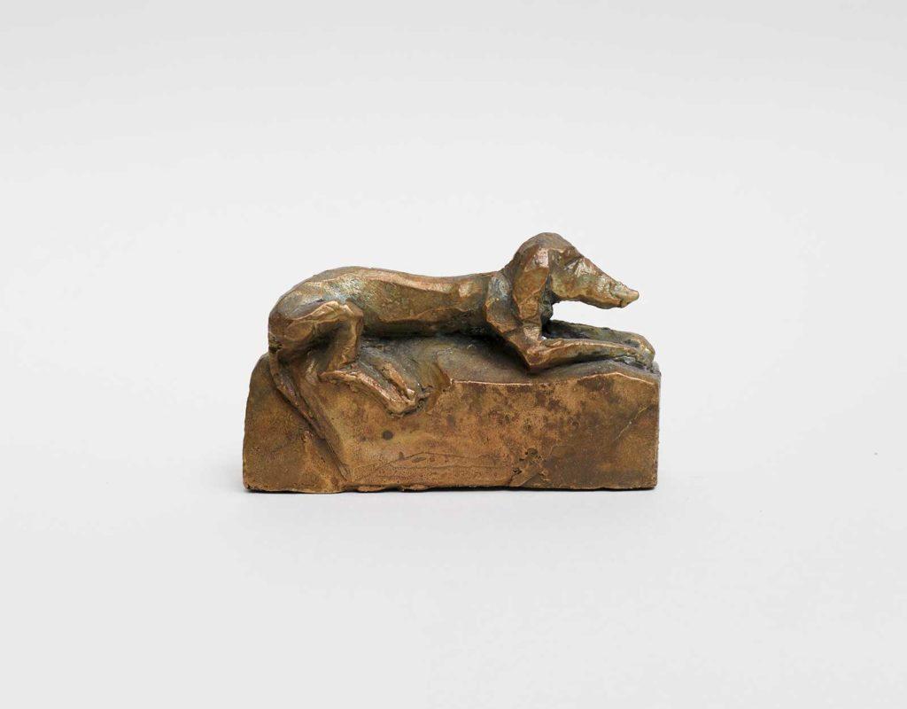 Kleiner Hund, Bronze, 5 x 8 x 2,3 cm