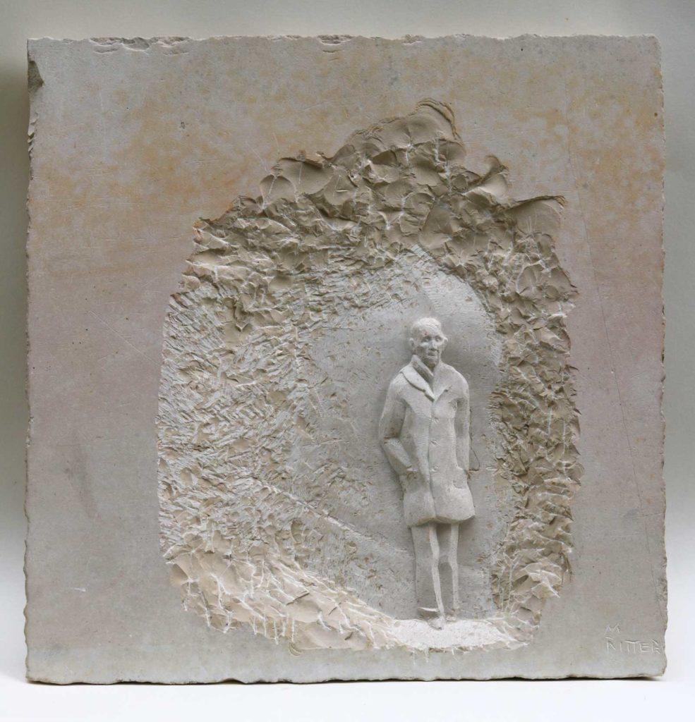 Weg, Juramarmor, 33 x 33 x 3 cm