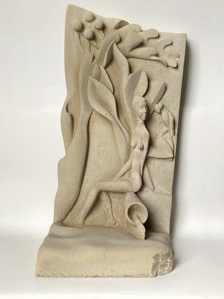 Einladung in Pits Garten – Sandstein, 52 x 30 x 25 cm
